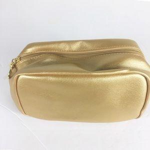 Estee Lauder Women Gold Makeup Cosmetic Bag